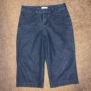 Coldwater Creek Capri Jean shorts